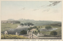 The tank, palace and general view of Panna. May 1814